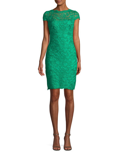 Lace Sheath Illusion Dress