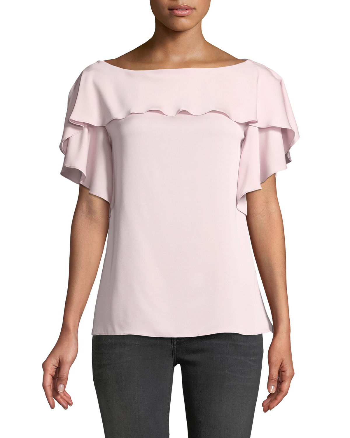 Milly Silk-Blend Top For Sale Cheap Price Outlet Visa Payment Discount Manchester Great Sale MTRUQKHU4