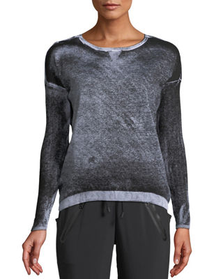 Image 1 of 2: Boyfriend Crewneck Long-Sleeve Pullover Sweater