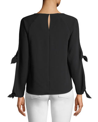 Image 2 of 3: Ingrid Cutout-Sleeve Blouse