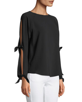 Image 3 of 3: Ingrid Cutout-Sleeve Blouse
