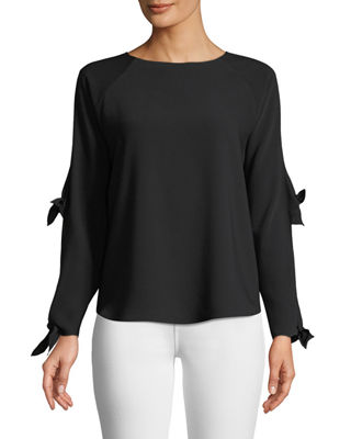 Image 1 of 3: Ingrid Cutout-Sleeve Blouse