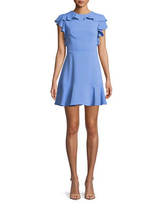 Emery Sleeveless Flounce Mini Dress
