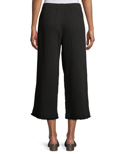 Organic Cotton Lofty Gauze Cropped Pants