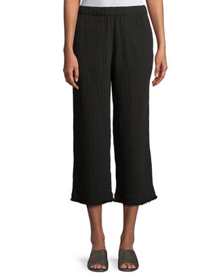 Eileen Fisher Organic Cotton Lofty Gauze Cropped Pants