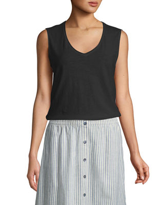 Eileen Fisher Slubby Organic Cotton Jersey Tank Top