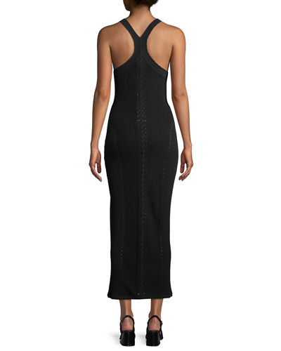 Brandy Sleeveless Fitted Knit Maxi Dress