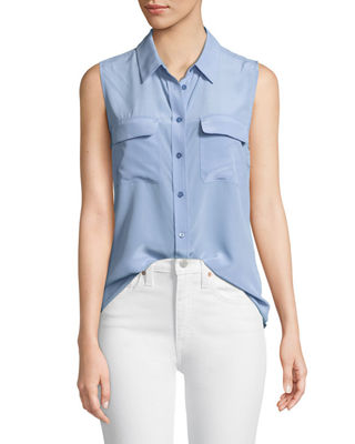 Slim Signature Sleeveless Blouse