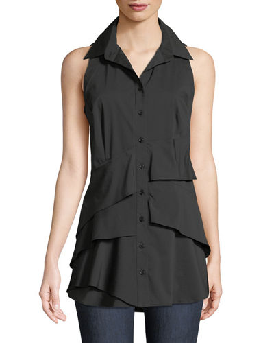 Jenna Sleeveless Tiered Blouse