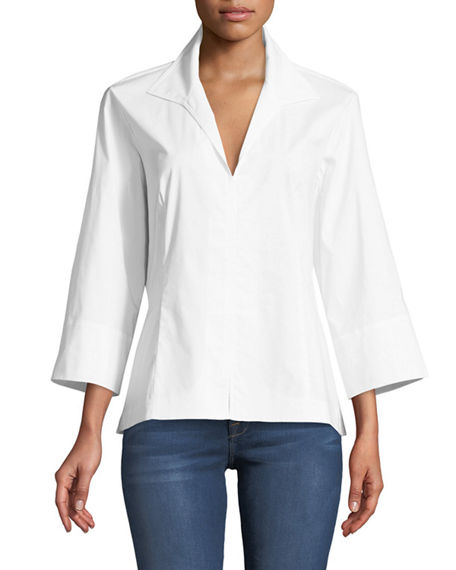 Finley 3/4-Sleeve Swing Shirt