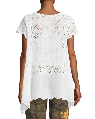 Johnny Was Pippa Eyelet Tunic