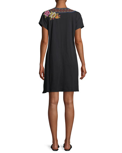 Vella Easy Knit Short-Sleeve Tunic Dress , Plus Size
