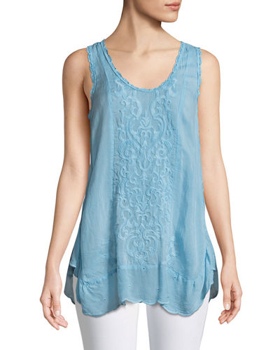 Summer Embroidered Tank Top