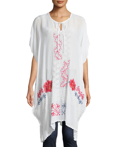 Tillson Embroidered Georgette Drama Caftan