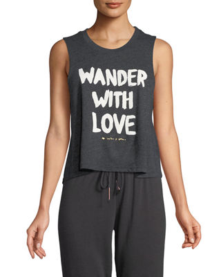 Spiritual Gangster Wander With Love Graphic Muscle Tank