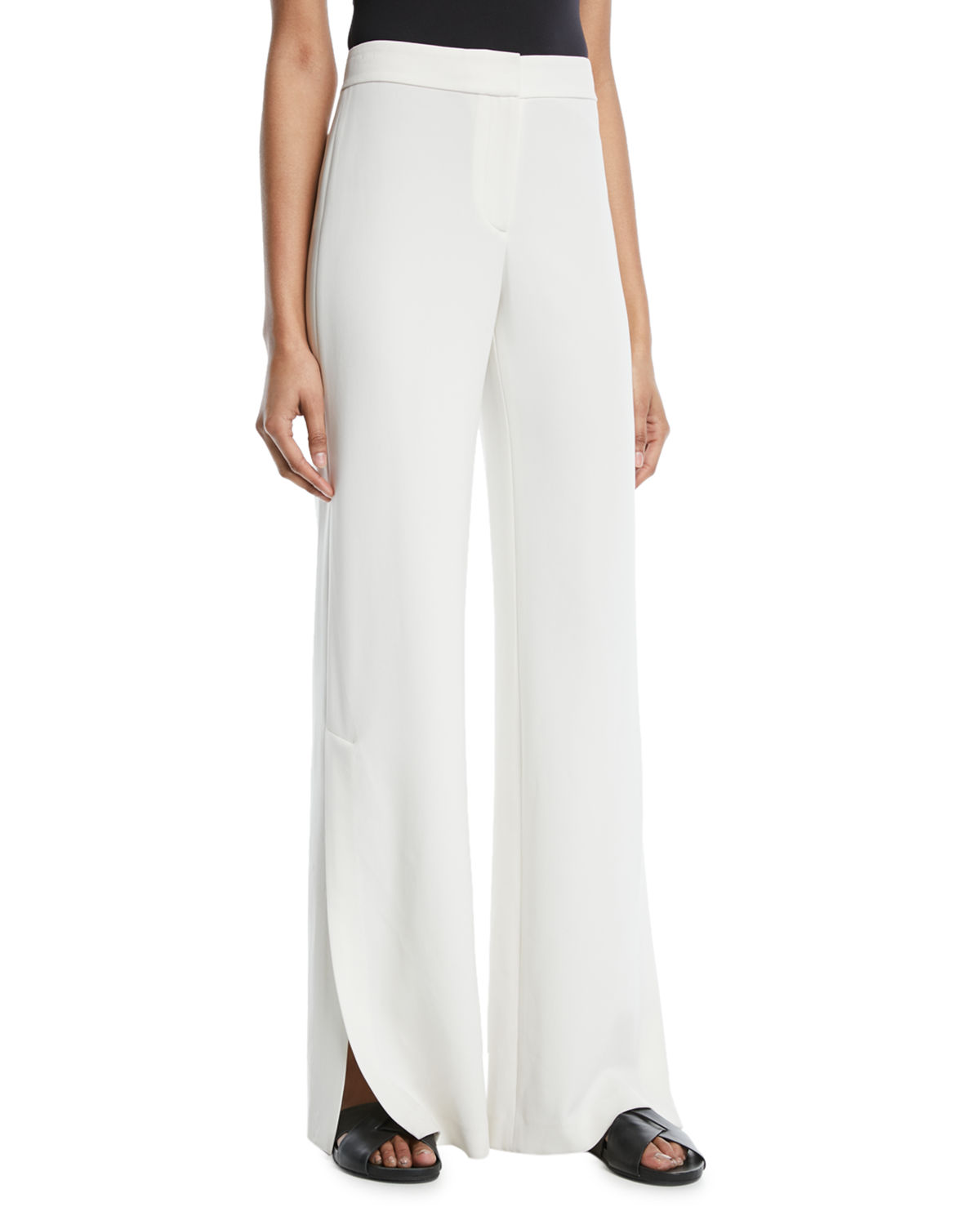 Admiral Crepe High-Slit Pants