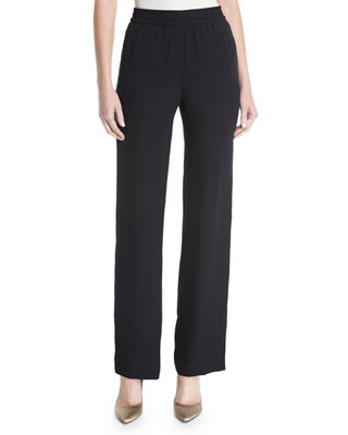 Theory Modern Silk Georgette Track Pants