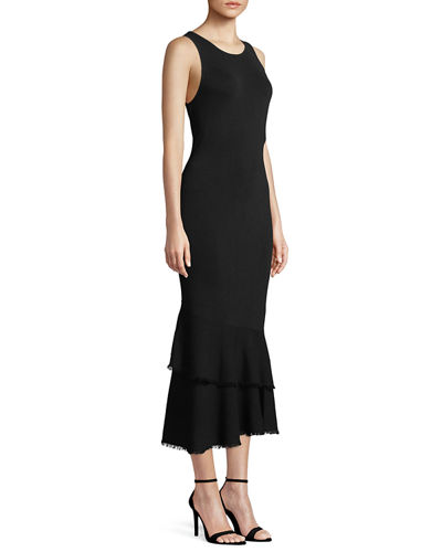 Nilimary Prosecco Knit Midi Dress