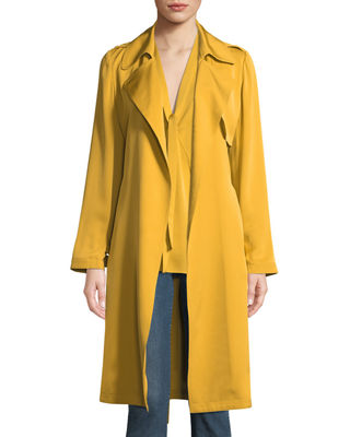 Theory Silk Belted Trench Coat and Matching Items