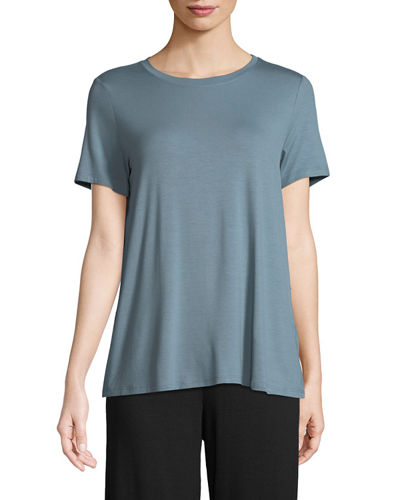 Eileen Fisher Short-Sleeve Lightweight Jersey Top, Plus Size