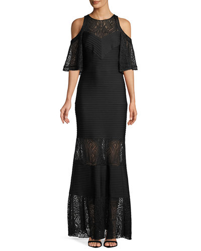 Esme Embroidered Gown w/ Jersey Pintuck
