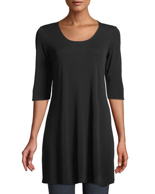 Eileen Fisher Half-Sleeve Silk Jersey Tunic and Matching