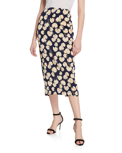 a4fdda76ec Quick Look. Diane von Furstenberg · Tailored Midi Pencil Silk-Blend Skirt