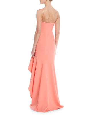 Image 2 of 4: Vita Ruffle High-Low Slip Gown