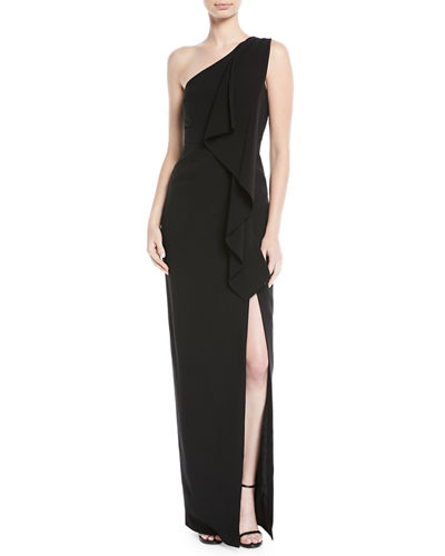 Sienna Draped One-Shoulder Gown