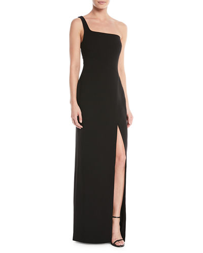 Camden One-Shoulder Gown w/ Slit