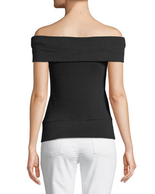 Image 2 of 2: Cathie Off-the-Shoulder Top