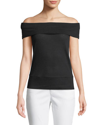 Image 1 of 2: Cathie Off-the-Shoulder Top