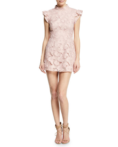 Alaya Floral Lace Mini Dress