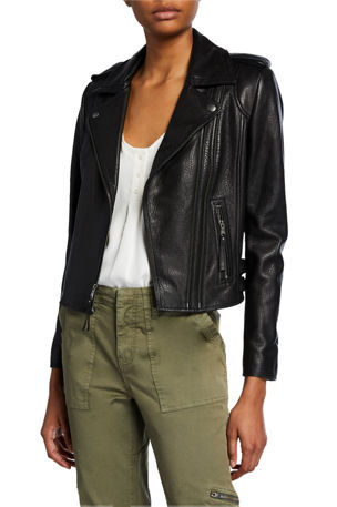 Joie Leolani Lamb Leather Moto Jacket