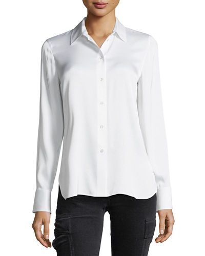 Slim Fit Button-Front Shirt