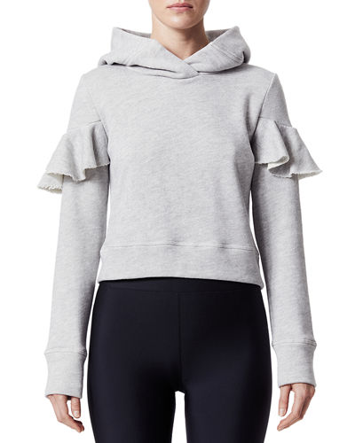Hooded Long-Sleeve Pullover Sweatshirt