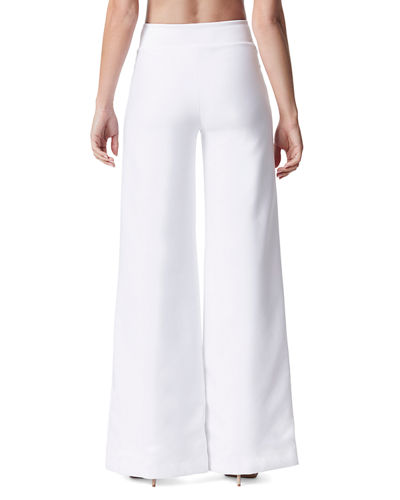 Lace-Up Wide-Leg Full-Length Pants