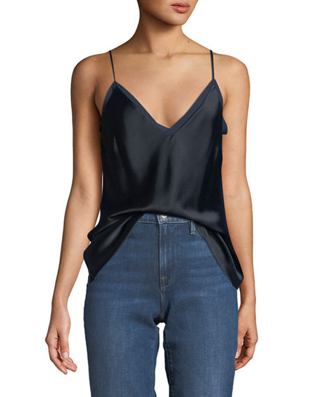V-Neck Satin Lounge Cami Tank Top Frame Denim Free Shipping Sneakernews Sale Popular Buy Cheap Looking For J7AQBY