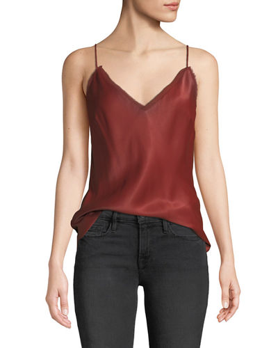 2cf8ce8f200de7 Quick Look. FRAME · V-Neck Satin Lounge Cami Tank Top