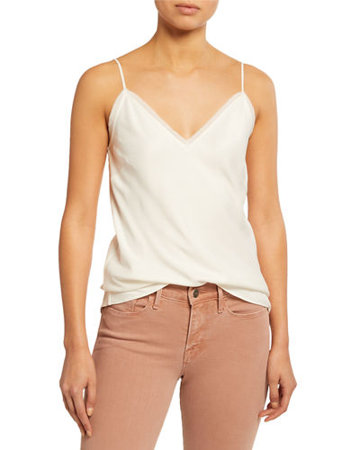 V-Neck Satin Lounge Cami Tank Top