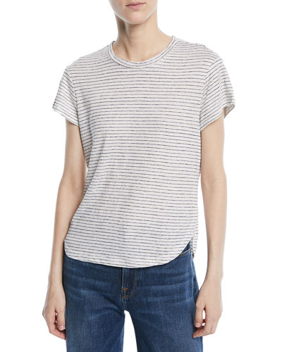 Classic Striped Linen Crewneck Tee