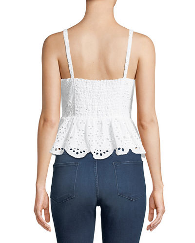 Beverli Lace-Up Eyelet Top