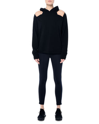 NYLORA Wooster Hooded Cutout Sweatshirt in Black
