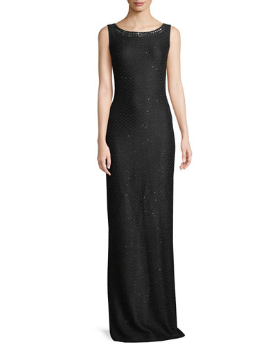 Shimmer Sequin Knit Column Dress