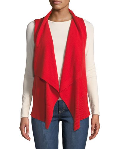 Cashmere Exposed-Seam Vest