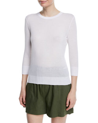 Vince Textured 3/4-Sleeve Pullover Top and Matching Items