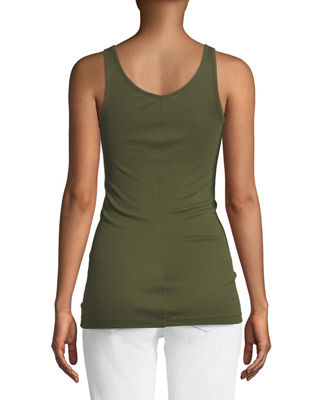Image 2 of 3: Scoop-Neck Knit Tank