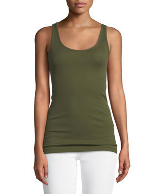 Image 3 of 3: Scoop-Neck Knit Tank