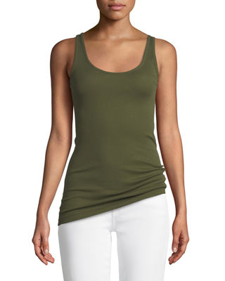 Image 1 of 3: Scoop-Neck Knit Tank