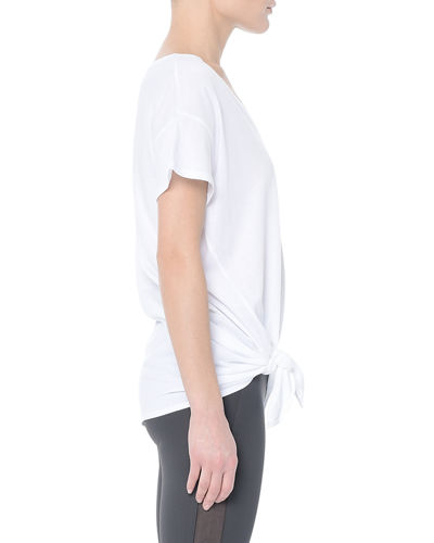 Flores Knotted Short-Sleeve Top